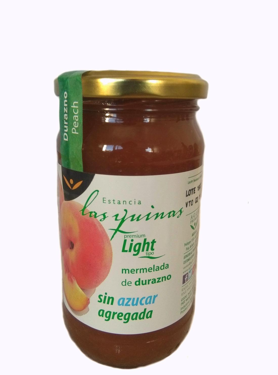 Mermelada de Durazno Sin Azúcar.