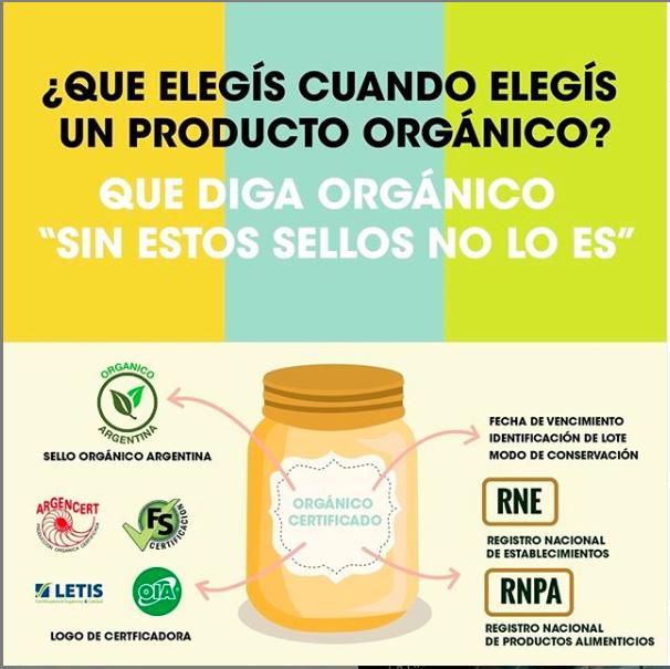 Que tiene que tener en la etiqueta un producto orgánico.